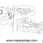 """Cartoon """"O fim do silêncio"""" – Carlos Moreira"""