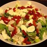 Salada de frango e mozarella