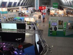 Vista greal da Green Business Week e dos stands das três feiras que a compunham: SmartCitiesLive; EnergyLiveExpo; AcquaLiveExpo.