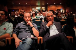 Rui Tavares e António Costa no Congresso do LIVRE de 5 de Outubro de 2014