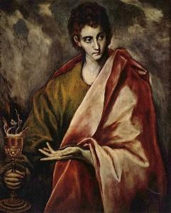 São João, o Apóstolo, por El Greco, quadro do Museu do Prado em Madrid